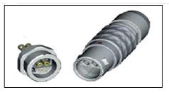 металлический цилиндрический разъем ODU  14-контактный серии S