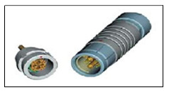 металлический цилиндрический разъем ODU  16-контактный серии F
